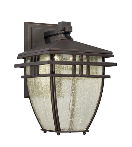 Designers Fountain Drake Outdoor Wall Lantern in Aged Bronze Patina LED30821-ABP photo
