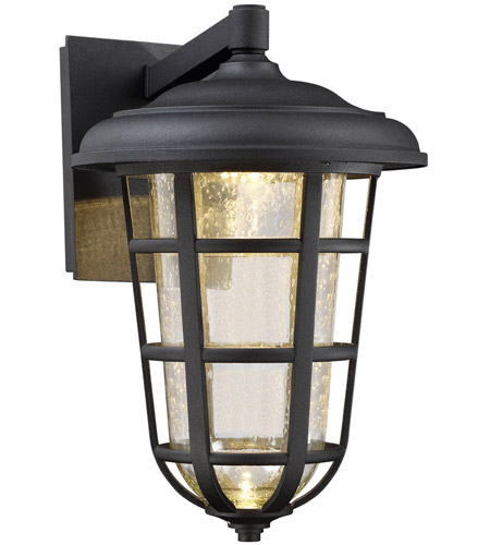 Designers Fountain LED33911-BK Triton LED 14 inch Black Outdoor Wall Lantern