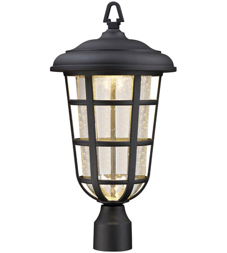 Designers Fountain LED33916-BK Triton LED 20 inch Black Outdoor Post Lantern