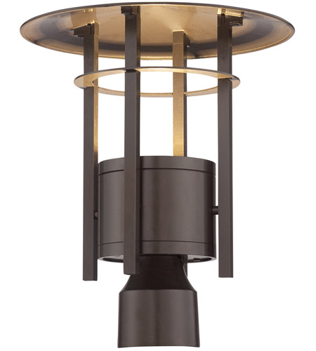 Designers Fountain Led34036 Bnb Englewood Led 12 Inch Burnished Bronze Outdoor Post Lantern