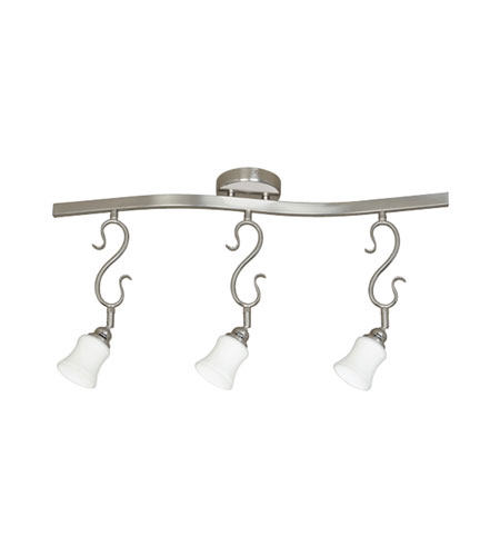 Designers Fountain Segno 3 Light Track Fixture in Satin Platinum TKF20-SP photo