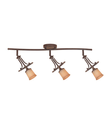 Designers Fountain Austin 3 Light Track Fixture in Weathered Saddle TKF973-WSD photo