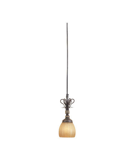 Designers Fountain Treble 1 Light Track Mini-Pendant in Augustine Bronze TKM30-AGB