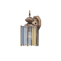 Designers Fountain Beveled Glass Lanterns 1 Light Outdoor Wall Lantern in Weathered Brass 1101-CL-WB