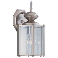Designers Fountain Beveled Glass Lanterns 1 Light Outdoor Wall Lantern in Pewter 1101-PW