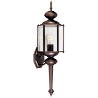 Designers Fountain Beveled Glass Lanterns 1 Light Outdoor Wall Lantern in Distressed Bronze 1103-DB