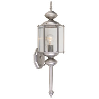 Designers Fountain Beveled Glass Lanterns 1 Light Outdoor Wall Lantern in Pewter 1103-PW
