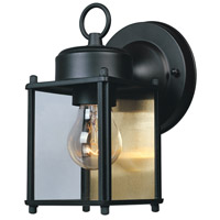 Designers Fountain Porch 1 Light Outdoor Wall Lantern in Black 1161-BK