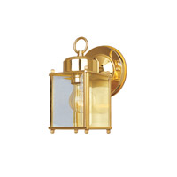 Designers Fountain Porch 1 Light Outdoor Wall Lantern in Polished Brass 1161-CL-PB