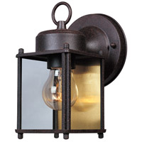 Basic 1 Light 8 inch Rust Patina Outdoor Wall Lantern
