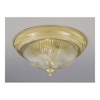 Designers Fountain Signature 3 Light Flushmount in Polished Brass 1244L-PB-HC