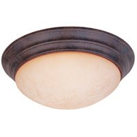 Lunar 3 Light 17 inch Ancient Oak Flushmount Ceiling Light in Amber