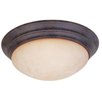 Lunar 2 Light 14 inch Ancient Oak Flushmount Ceiling Light in Amber