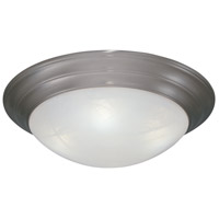 Lunar 1 Light 12 inch Pewter Flushmount Ceiling Light