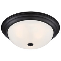 Designers Fountain 1257L-ORB-W Decorative 3 Light 15 inch Oil Rubbed Bronze Flushmount Ceiling Light