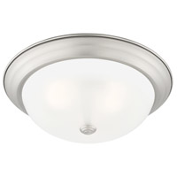 Designers Fountain 1257L-PW-W Decorative Flushmount 3 Light 15 inch Pewter Flushmount Ceiling Light in Etched