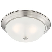 Designers Fountain 1257L-SP-W Decorative Flushmount 3 Light 15 inch Satin Platinum Flushmount Ceiling Light in Etched