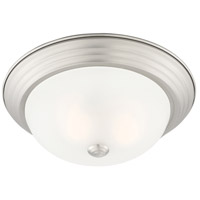 Designers Fountain 1257M-PW-W Decorative 2 Light 13 inch Pewter Flushmount Ceiling Light in Etched, Medium