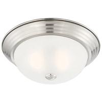 Designers Fountain 1257M-SP-W Decorative 2 Light 13 inch Satin Platinum Flushmount Ceiling Light