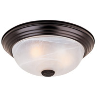 Designers Fountain 1257S-ORB-AL Decorative 2 Light 11 inch Oil Rubbed Bronze Flushmount Ceiling Light in White Alabaster photo thumbnail