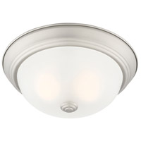 Designers Fountain 1257S-PW-W Decorative Flushmount 2 Light 11 inch Pewter Flushmount Ceiling Light in Etched