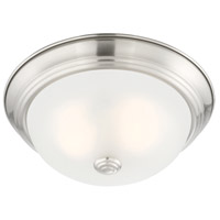 Designers Fountain 1257S-SP-W Decorative 2 Light 11 inch Satin Platinum Flushmount Ceiling Light in Etched, Small
