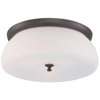 Studio 2 Light 13 inch Oil Rubbed Bronze Flushmount Ceiling Light