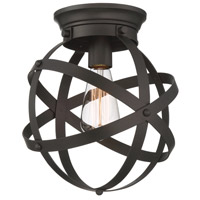 Eli 1 Light 10 inch Oil Rubbed Bronze Flush Mount Ceiling Light