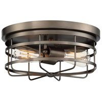 Designers Fountain 1264-SCB Anson 2 Light 13 inch Satin Copper Bronze Flushmount Ceiling Light