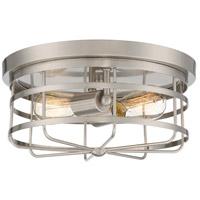 Designers Fountain 1264-SP Tanner 2 Light 13 inch Satin Platinum Flush Mount Ceiling Light
