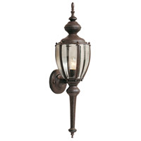 Designers Fountain Beveled Glass Lanterns 1 Light Outdoor Wall Lantern in Rust Patina 1273-RP