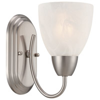 Designers Fountain Torino 1 Light Wall Sconce in Brushed Nickel 15005-1B-35