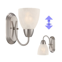 Torino 1 Light 5 inch Brushed Nickel Wall Sconce Wall Light
