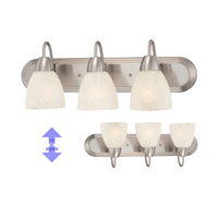 Torino 3 Light 24 inch Brushed Nickel Bath Bar Wall Light
