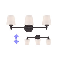 Darcy 3 Light 25 inch Oil Rubbed Bronze Bath Bar Wall Light