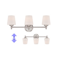 Darcy 3 Light 25 inch Brushed Nickel Bath Bar Wall Light