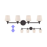 Darcy 4 Light 36 inch Oil Rubbed Bronze Bath Bar Wall Light