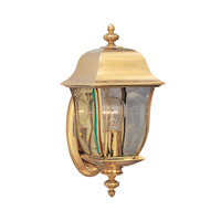 Designers Fountain Gladiator 1 Light Outdoor Wall Lantern in Polished Brass 1532-PVD-PB