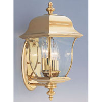 Designers Fountain Gladiator 3 Light Outdoor Wall Lantern in Polished Brass 1542-PVD-PB