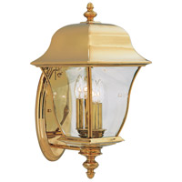 Gladiator 3 Light 21 inch Polished Brass Outdoor Wall Lantern