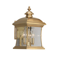 Designers Fountain Buckingham 3 Light Outdoor Wall Lantern in Polished Brass 1681-PVD-PB photo thumbnail