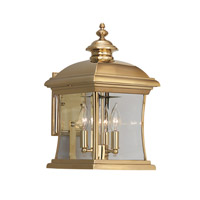 Designers Fountain Buckingham 4 Light Outdoor Wall Lantern in Polished Brass 1691-PVD-PB photo thumbnail