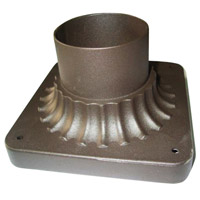 Signature 1 Light 4 inch Oil Rubbed Bronze Outdoor Pier Mount