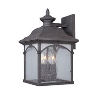 Designers Fountain Prescott 4 Light Outdoor Wall Lantern in Autumn Gold 20441-AG