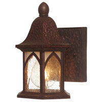 Designers Fountain Berkshire 1 Light Outdoor Wall Lantern in Burnished Antique Copper 20601-BAC