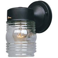Basic 1 Light 7 inch Black Outdoor Wall Lantern
