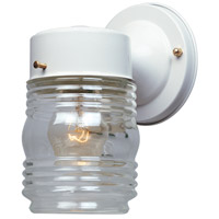 Basic 1 Light 7 inch White Outdoor Wall Lantern