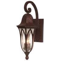 Berkshire 3 Light 23 inch Burnished Antique Copper Outdoor Wall Lantern