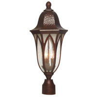 Berkshire 3 Light 23 inch Burnished Antique Copper Outdoor Post Lantern