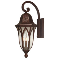Berkshire 4 Light 28 inch Burnished Antique Copper Outdoor Wall Lantern